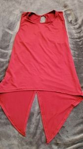 Red wrap tank top hi-lo size S
